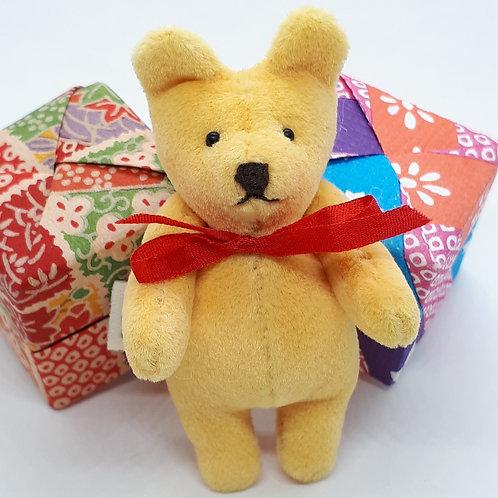 "Janis Waldron ""Fimble"" tiny pocket mascot bear"