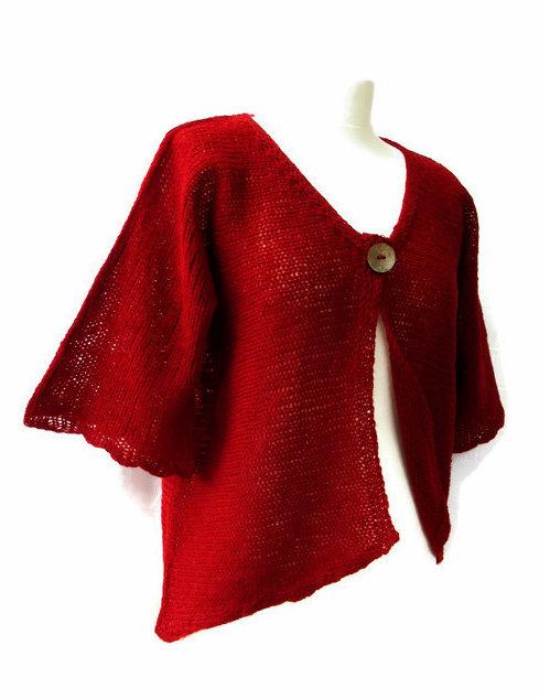 Lillian Scott light Jacket in madder red