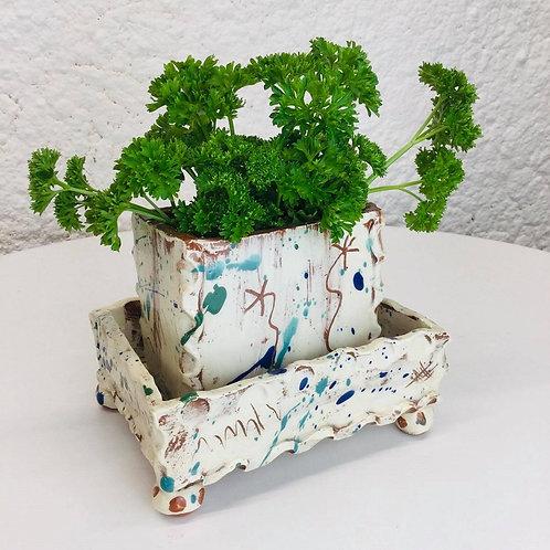 Sarah Monk ceramic kitchen herb planter