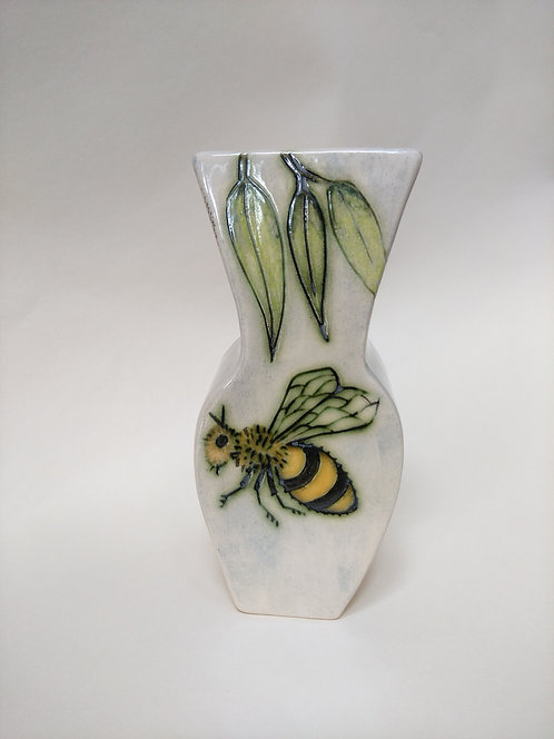 Jeanne Jackson Bee & Dragonfly vase