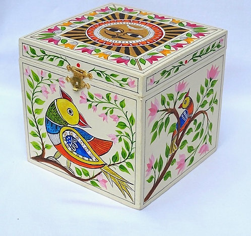 Sue Exton Madhubani Sun Box