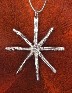 Carol Brook Silverfish large snowflake necklace