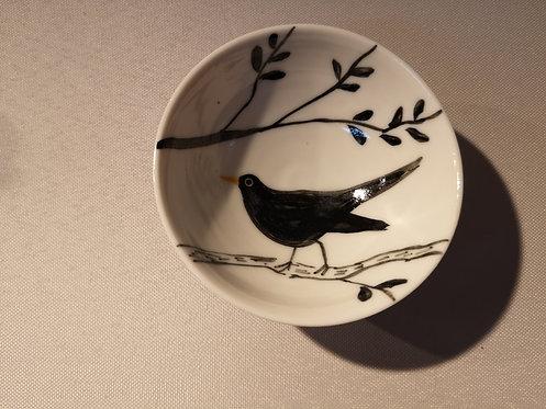Carey Moon porcelain blackbird dish 1