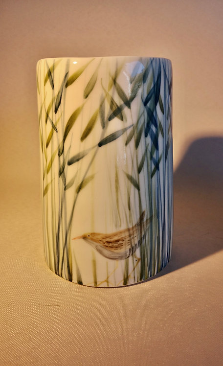 Carey Moon Tall Vase with poem on base