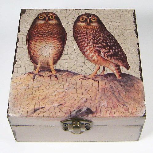 Jo Verity decoupage Two Little Owls box
