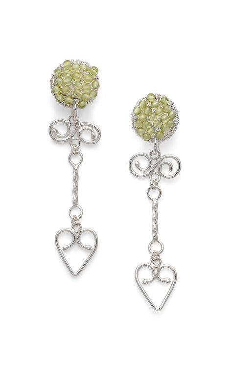 Rosie Keogh sparkle disc stud earrings