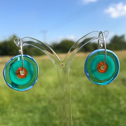 Penny Carter Jam Ring handmade glass earrings