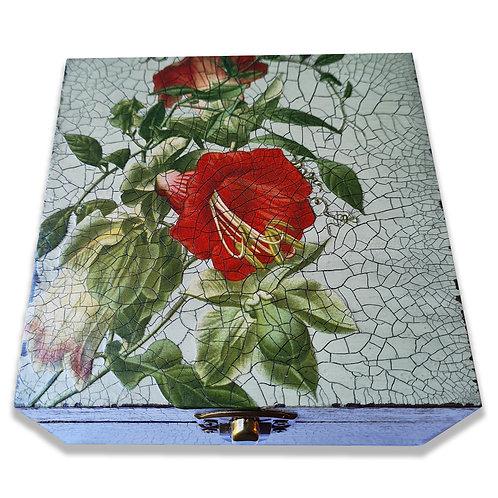 Jo Verity decoupage hibiscus box