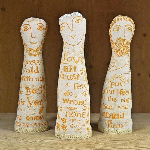 Jill Pargeter linen figures