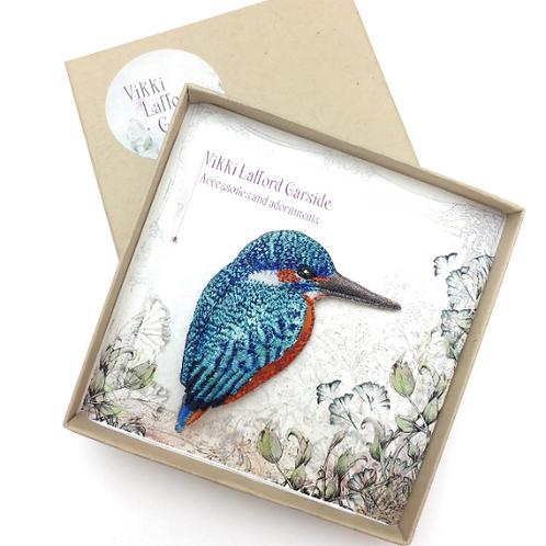 Vikki Lafford Garside Kingfisher brooch