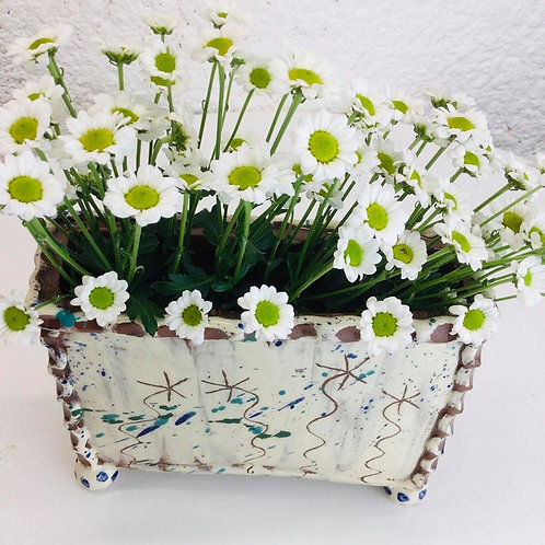 Sarah Monk ceramic rectangular vase