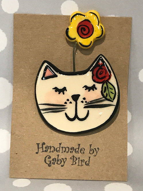 Gaby Bird ceramic brooch