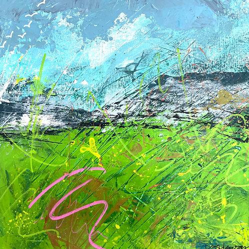 Jo Dewar 'Pembrokeshire Mood' original painting