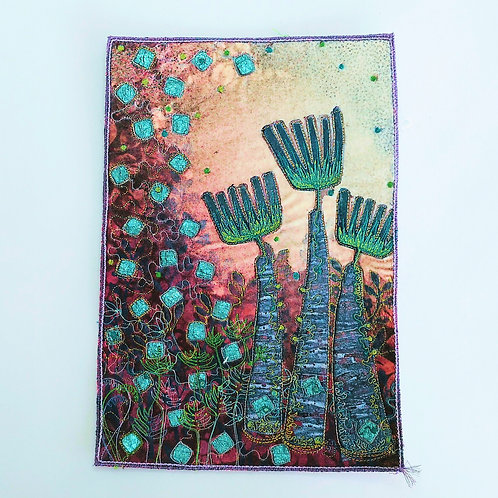Angie Hughes 'Pink Sunrise' embroidery