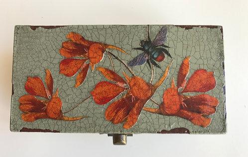 Jo Verity Bee & Nasturtiums decoupage box
