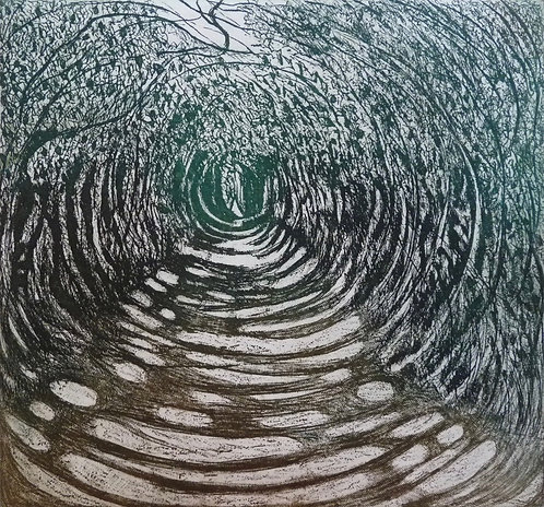 Annabelle Oppenheimer 'Pathway' etching