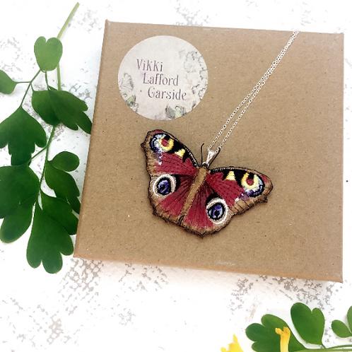 Vikki Lafford Garside Peacock Butterfly pendant