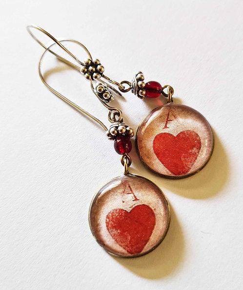 Jo Verity Ace of Hearts Earrings