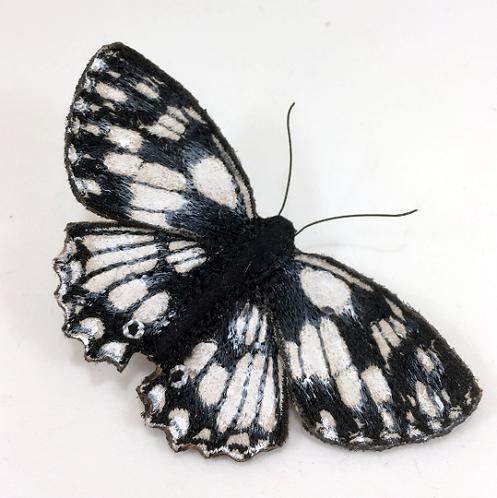 Vikki Lafford Garside Marbled White butterfly brooch
