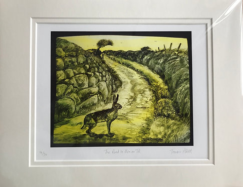 Tamsin Abbott 'The Road to Men an Tol' print