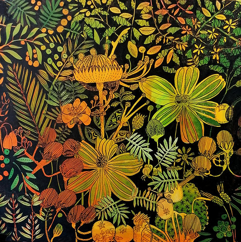 Jeanette McCulloch 'Orange Green' painting