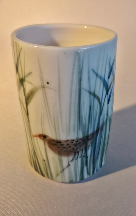 Carey Moon little porcelain vase with  poem