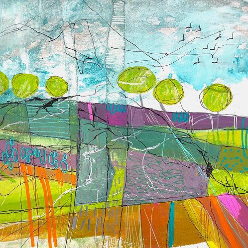 Jo Dewar 'Lavender Field' original painting