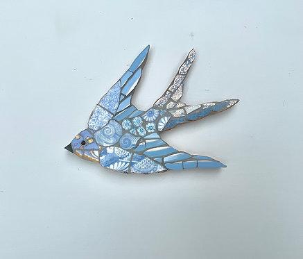 Emily Lawlor vintage china mosaic swallow 'Gyre'