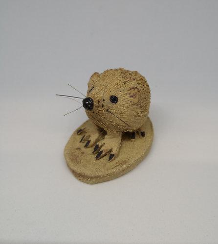 "CareyMoon stoneware hedgehog ( Hoglet of happiness"""