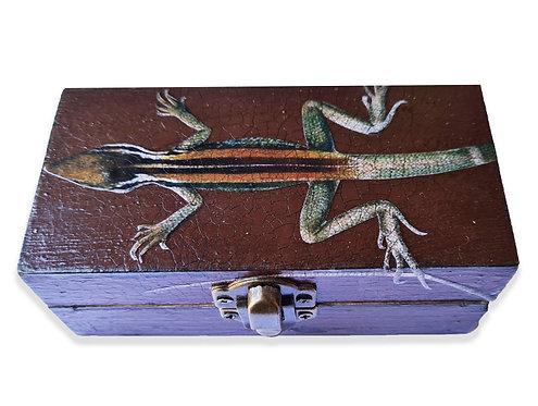 Jo Verity decoupage lizard box