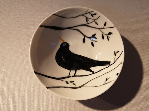 CareyMoon mini porcelain blCKBIRD DISH