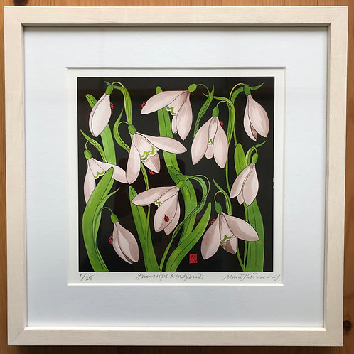 """Marie Therese King limited edition """" Snowdrops and Ladybirds"""""""