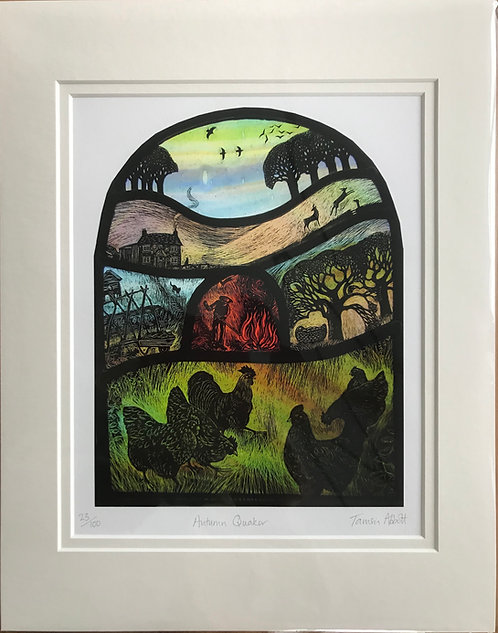 Tamsin Abbott 'Autumn Quaker' print