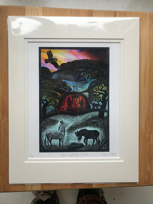 """Tamsin Abbott""""When Everything's in its Place""""limited edition print"""