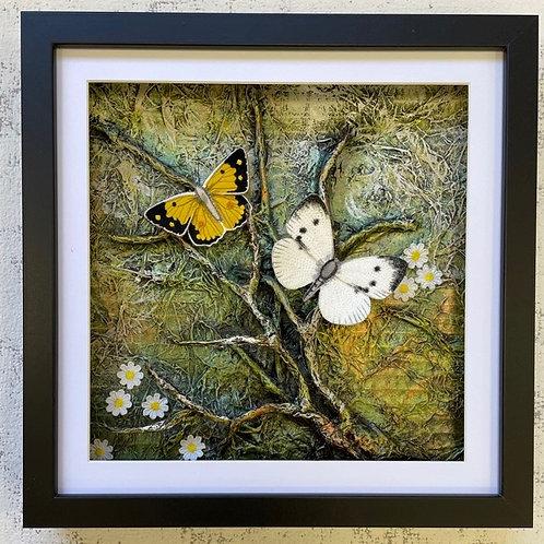 Vikki Lafford Garside Cabbage White & Clouded yellow framed