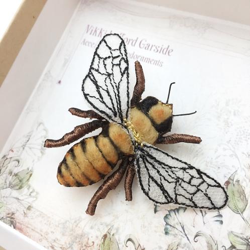 Vikki Lafford Garside Honey Bee Brooch