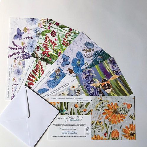 MarieTherese King Butterflies and Bees card pack