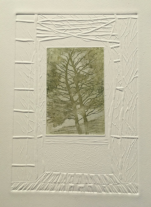 Annabelle Oppenheimer 'Beyond the Garden' etching