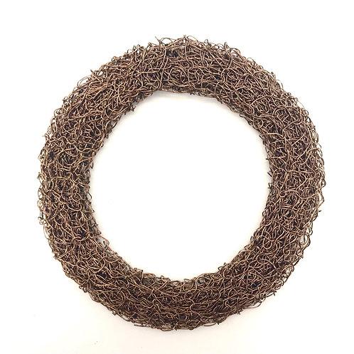 Jo Dewar gunmetal knitted flat bracelet