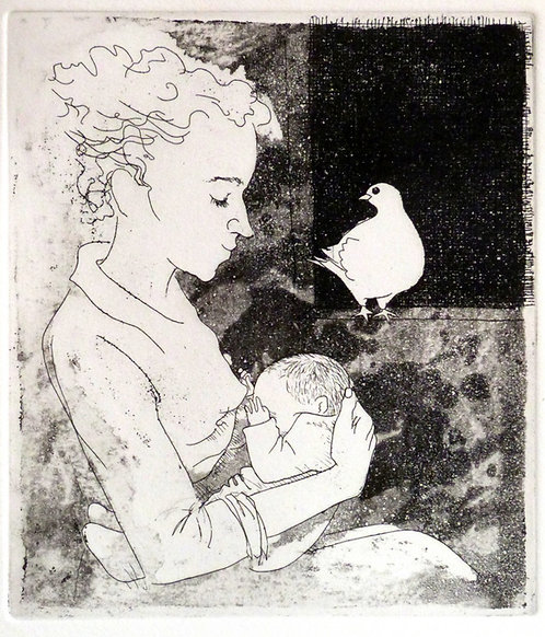"""Frans Wesselman """" Baby"""" etching"""