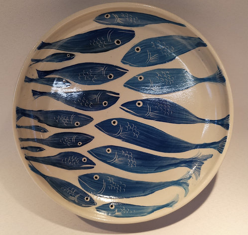 Carey Moon large fish dish no 1