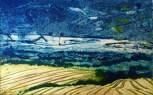 Annabelle Oppenheimer 'LOOKING WEST' collagraph
