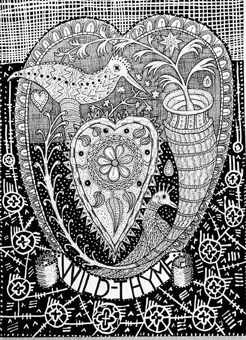 John Exton 'Wild Thyme' original drawing