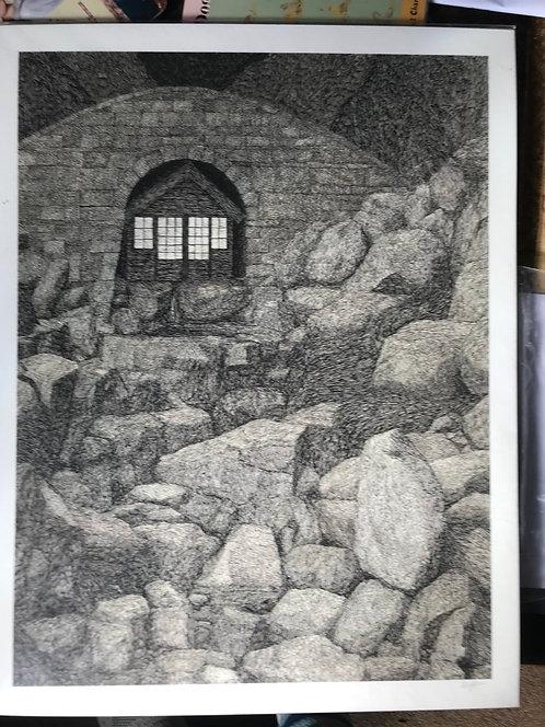 "Kenji Lim limited edition print of "" Hut under the Bridge"""