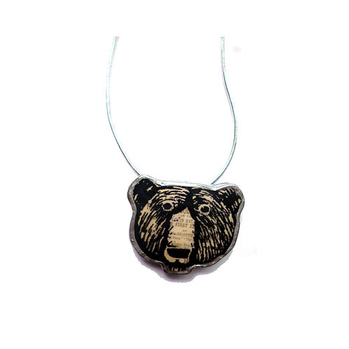 Ellymental bear head necklace