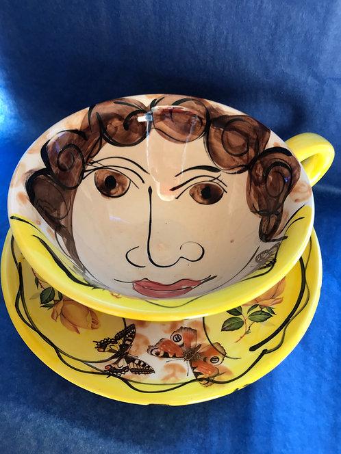 Karen Atherley cup and saucer
