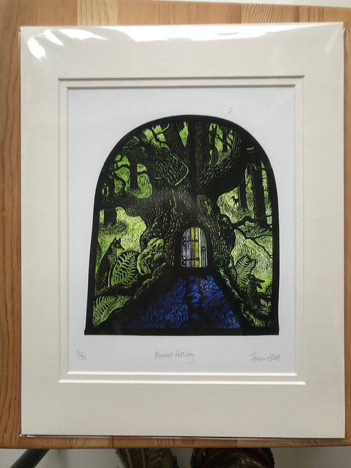 """Tamsin Abbott """"Bluebell Pathway""""limited edition print"""