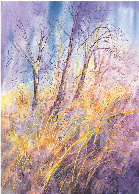 "HelenCrawford ""Birches and Grasses"""