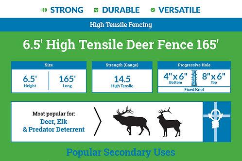 6.5′ High Tensile Deer Fence 165'