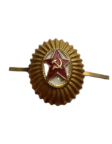 Russian Oval Star Badge